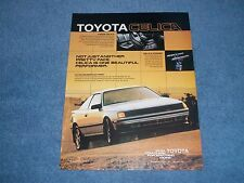 "1986 Toyota Celica GT-S Vintage Ad ""Not Just Another Pretty Face."""