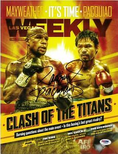 Manny Pacman Pacquiao Signed Magazine Autographed PSA/DNA Las Vegas Weekly COA