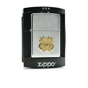 United States Coast Guard Badge Zippo from 2006 Mint with Seal