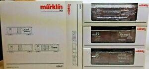 Märklin Set 45651 3 US Box cars in OVP