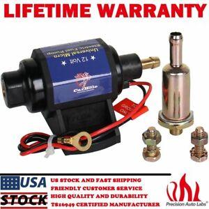 Universal 12s Micro Electric Gas Fuel Pump 35 GPH 4-7 psi External w/ Carburetor