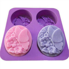 four soap mold butterfly cute flower DIY handmade soap silicone mold US`