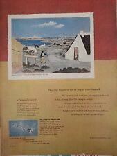 1950 Debeers Seacoast Honeymoon Painted By Jean Hugo Original Print Ad