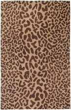 5x8 Surya Handmade Wool Beige Leopard 5000 Area Rug - Approx 5' x 8'