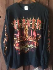 RARE Vintage SLAYER Stench Of Immortality Metal Rock Long sleeve  Shirt Sz M