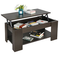 Modern Lift Top Coffee Table with Hidden Storage Compartment Shelf Living Room