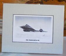 "SR-71A Blackbird ""Alone, Unarmed and Unafraid"" 8X10 Matted Print by Willie Jones"