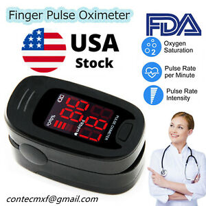 Finger Pulse Oximeter Blood Oxygen Saturation Heart Rate Measuring SpO2 Monitor