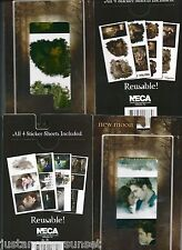 Twilight New Moon Sticker Pack Reusable Breaking Dawn SET OF 2 JACOB & EDWARD