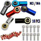 10x M3 M4 Metal Tie Push Link Rod End Ball Joint Head Bearing For RC Crawler Car