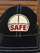 Rocky Mountain Elks Foundation Safe Hat Black Cap REMF  Velcro Back NWOT