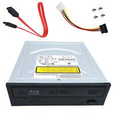 Desktop PC Internal SATA Blu Ray Player BD 12X Reader DVD Burner Drive Cable Set