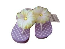 Lilac polka dot sandals - Little girls Size M (7/8)