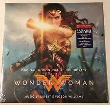 WONDER WOMAN LP MOTION PICTURE SOUNDTRACK EXCLUSIVE ALBUM COVER GAL GADOT
