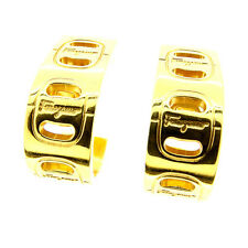 Auth Salvatore Ferragamo earring Valve Hardware Women''s used L1031