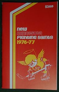 Vintage 1976-77 New Minnesota Fighting Saints WHA Media Guide - Top Condition!