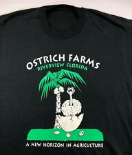 Vintage Mens M/L 80s 90s Ostrich Farms Riverview Florida Agriculture T-Shirt