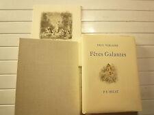 FETES GALANTES DE PAUL VERLAINE ILLUSTRE P.E. BECAT CHEZ LE LIVRE DE QUALTE 1953