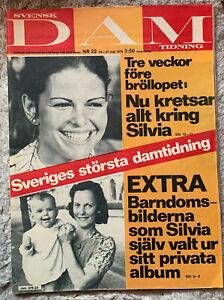 Svensk DAM tidning-Nr.22/1976 - Königin Silvia von Schweden; Königshaus
