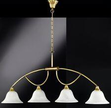 Lámpara Colgante Cristal Blanco Latón Antiguo de Techo HELLA