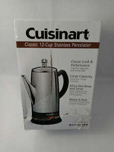 New Cuisinart Classic 12-Cup Stainless Percolator - Model PRC-12
