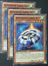 Set 3X ASTRONAVE AEREO SPIA  LVAL-IT099 Comune Italiano YUGIOH