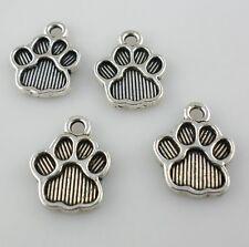 20/60/300pcs Tibetan Silver Animal Dog Cat Paw Print Charms Pendants 12x15mm