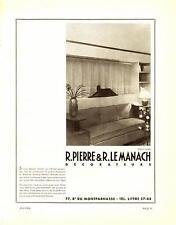 1935 Publicité R. PIERRE & R. LE MANACH - Décorateurs, Paris.