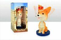 Royal Corgi Dog Commemorative British Queen Bobble Head Resin Figure Ornament