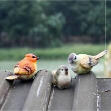 Set of 3 Cute Resin Bird Yard Garden Indoor/Outdoor Decoration Figurine
