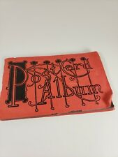 Vintage Red Paper Postcard Album with Postcards Litho Happy Birthday France