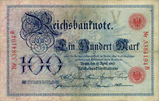 Germany / Deutschland P-22 / Ro.20 100 mark 1903