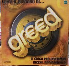 Greed gioco da tavolo in italiano Hasbro 4-8 giocatori