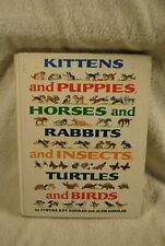 Kittens and Puppies Horses and Rabbits and Insects Turtles and Birds 1970 Book
