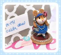 ❤️Wee Forest Folk M-171 Zelda Blue Dress Silver Glitter Flapper Mouse Retired❤️