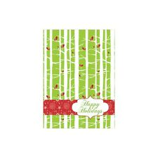 Holiday Birch Christmas Greeting Card & Envelope by Tree Free