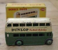 Vintage Dinky Double Decker Bus Dunlop Autobus 290