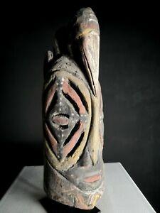 "Beautiful Old ""Mi Baba"" Helmet Mask, Abelam, PNG, Papua New Guinea, Tribal Art"