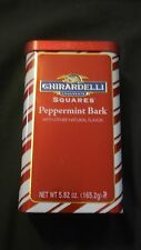 Ghirardelli Chocolate Squares Peppermint Bark 5.82 Oz In Collectible Tin