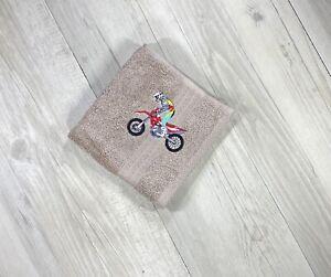 Motorbike Face Washer Birthday Gift Children's Bathroom Boy