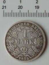 monnaie argent 1 mark 1875 C allemagne empire