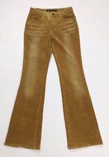 Long ju mei pantalone velluto donna bootcut zampa w26 tg 40 vintage retro T2682