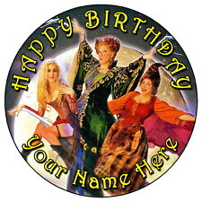 "HOCUS POCUS MAGIC PARTY - 7.5"" PERSONALISED ROUND EDIBLE ICING CAKE TOPPER"