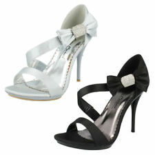 Stiletto Satin Bow Heels for Women