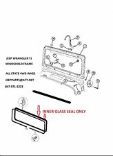 87-95 Jeep Yj Wrangler Windshield Glass Seal Lock 12301.06 55134655