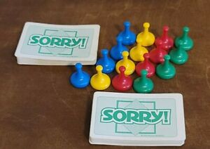 Sorry Board Game Replacement  Pawns Movers 16  and Cards 1998