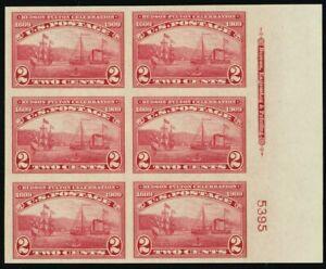 373, Mint Superb NH Right Side Plate Block of Six Stamps -Stuart Katz