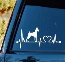 M1151 Min Pin Miniature Pinscher Heartbeat Lifeline Dog Decal Sticker