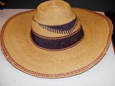 d878d051b24 PANAMA STYLE RESORT Beach HAT Tight Weave HAND WOVEN Straw SUN HAT Wide Brim
