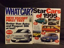 WHAT CAR? MAGAZINE MARCH 1995.. WITH ORIGINAL STAR CARS OF 1995 SUPPLEMENT.